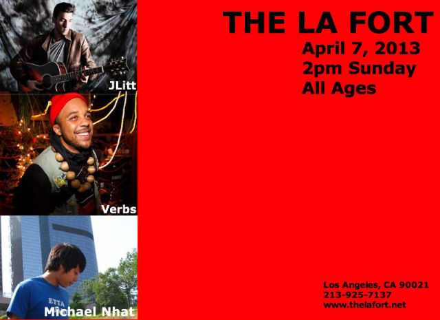 april 7 the la fort show flyer