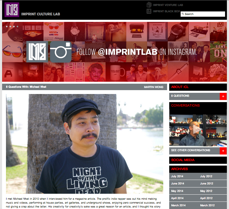 Michael Nhat Interview with Imprint Culture Lab