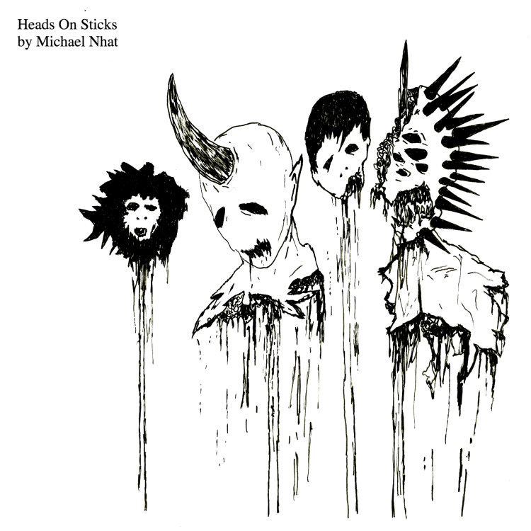 HEADS ON STICKS COVER ART loudr 3000