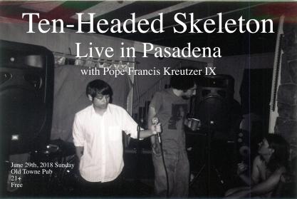 Pasadena Show flyer 2018 June 29th Sunday